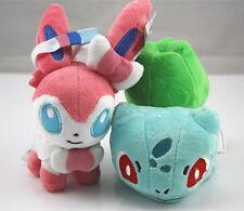 2pcs Pokemon Bulbasaur & Sylveon Plush Soft Doll Toy Stuffed Animal Gift US Ship