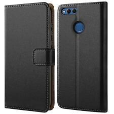 Handy Hülle für Honor 7x Case Schutz Tasche Cover Wallet Book Flip Schwarz