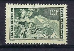 Switzerland 1930 Jungfrau 10fr Green Mint Hinged CV £325