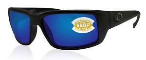 Costa Del Mar Fantail Blackout Frame Blue Mirror 580 plastic polarized TF01OBMP