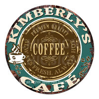 CWCC-0024 KIMBERLY'S COFFEE CAFE Sign Valentine Mother's Day Housewarming Gift
