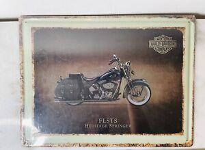 Harley Davidson FLSTS tin sign man cave shed garage decor NEW!