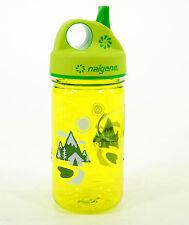 Nalgene Grip 'n Gulp Toddler Kids Sipper Water Bottle 12oz  Green with Trail