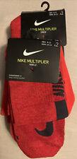 Lot Of 2-Nike Multiplier Ankle Socks Red XL - 4 Pair