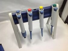Set of 4 Biohit Proline Single Channel Pipette 20,200,1000,5000 ul #2 stand