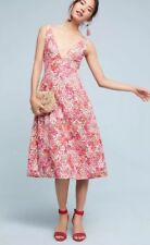 Anthropologie Riona Embroidered Dress by ML Monique Lhuillier NWT 10 Petite