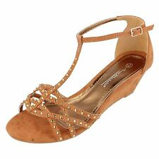 Anne Michelle Textile Wedge Shoes for Women