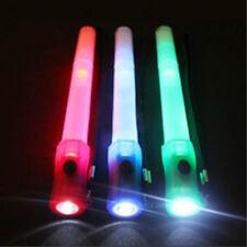 Green 4in1 LED Neon Flashlight/Emergency Light+Rescue Whistle Survival (#bte96)