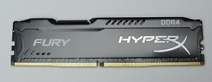 16GB Kingston HyperX Fury DDR4 XMP4-2666 PC4-21300 288-Pin Black Desktop Memory