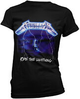 METALLICA Ride The Lightning WOMENS GIRLIE T-SHIRT OFFICIAL MERCHANDISE