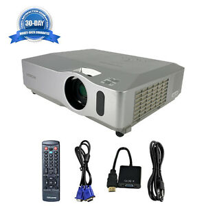 Refurbished Hitachi CP-X201 3LCD Projector HDMI-adapter HD 1080i w/Accessories