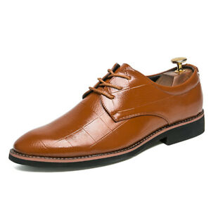 Wedding Mens Dress Formal Leather Shoes Pointy Toe Business Work Office Casual