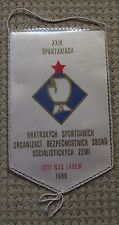 1980 Socialist Countries International Boxing Tournament Red Star Pennant Flag