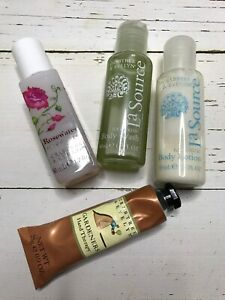 Lot of 4 Crabtree & EvelynTrial Size Body Wash Lotion Rosewater Hans Therapy
