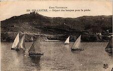 CPA   Cote Vermeille  - Collioure - Départ des barques pour la péche  (451373)