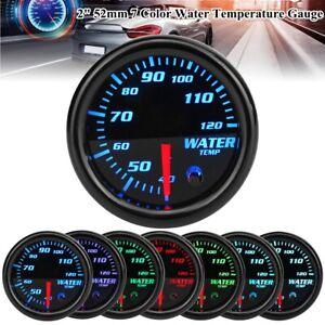 """Universal 2"""" 52mm LED Car Auto Water Coolant Temperature Temp Gauge  7 Color"""