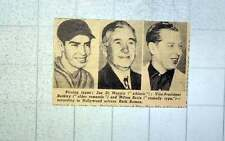 1949 Kissing Types Joe Dimaggio, Vice President Barkley And Milton Berle