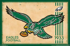 PHILADELPHIA EAGLES - RETRO LOGO POSTER - 22x34 NFL FOOTBALL VINTAGE 13180