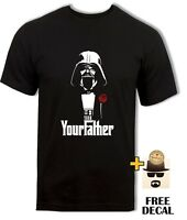 Starwars Darth Vader t-shirt, The Godfather parody, Your Father Men Black tee