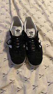 Adidas Gazelle Black White mens 9.5