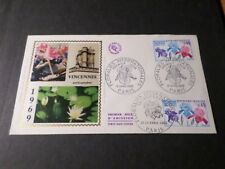 FRANCE 1969, FDC 1° JOUR, FLORALIES, PARIS 12 avril et 23-24, FLOWERS, VF