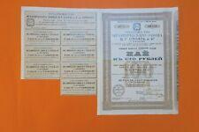 RUSSIAN BOND USINE MECANIQUE V.G STOLL 100 ROUBLES VORONEGE 1910 + COUPONS