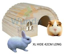 TRIXIE NATURAL WOODEN RABBIT GUINEA PIG HOUSE HIDE CAGE ACCESSORY 42CM 61273