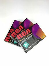 New Lot of 3 Blank RCA Hi-Fi Stereo Audio 90 Minutes Cassettes Sealed Pack