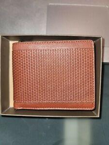 Trafalgar Men's Pebbled Leather Bifold Wallet Tan $68.00