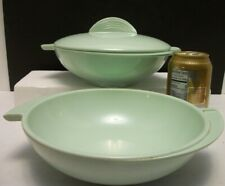 Mcm Mint Green Boonton Ware Melmac Winged Divided Bowl + Serving Bowl w 1 Lid