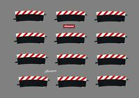 Carrera Evolution/Digital 124/132 Außenrandstreifen Kurve 4/15° 12 Stück 20568