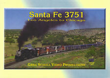 Santa Fe 3751 Los Angeles to Chicago DVD 3751 Railroad Greg Scholl NEW!