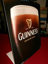 "Guinness Cardboard Standup Bar Sign 20.5"" Tall x 15.5"" Wide"