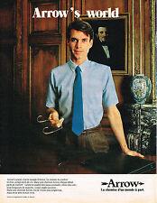 PUBLICITE ADVERTISING 054  1980   ARROW   chemises homme