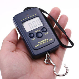 40kg Portable Digital Weighing Hanging Travel Scales Fishing Luggage Suitcase AU