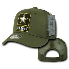 Olive United States Army Star US Cotton Baseball Trucker Mesh Military Cap Hat