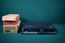 Sony Betamax SL-3030 video recorder with remote and tapes
