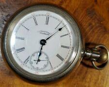 P.S. Bartlett Sidewinder Pocket Watch American Waltham Size 18 17 Jewels