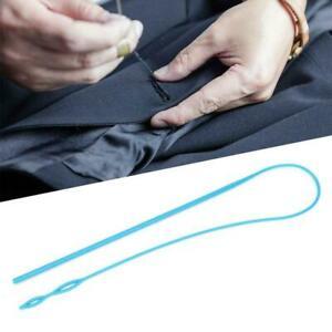 1x Plastic Elastic Belt Rope Drawstring Threader Threading Tool Sewing Accessory