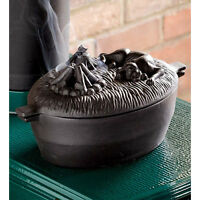 Cast Iron Dog Wood Stove Steamer Kettle Pot Dog Humidifier Plow & Hearth Black