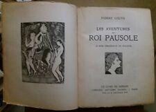 C1  Pierre LOUYS Les Aventures du Roi Pausole ILLUSTRE FOUJITA Japon