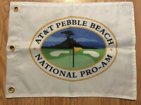AT&T Pebble Beach Pro Am Screen Printed Pin Flag PGA Tour With Grommets Tiger