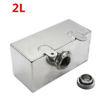 2L Litre Polished Alloy Header Expansion Water Tank & Cap Coolant Overflow Kit