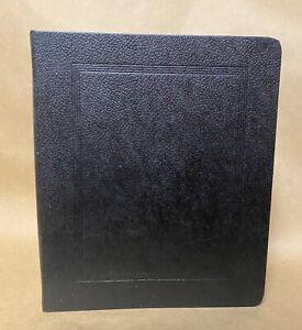 Vintage Vernon Royal Line R-2971 Photo Album Black Pebble Cover 11 Pages Unused