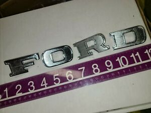 1968 1969 Ford Ranchero GT Squire ORIG TAIL GATE 'F O R D' EMBLEM LETTERS SET