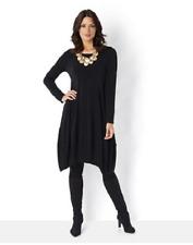 MarlaWynne Luxe Crepe Jersey Scoop Neck Balloon Dress Size 2xl Black