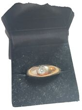 mans 14k vintage diamond ring
