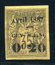 GUYANE 1886 Yvert 4 * TADELLOS schöne MARKE 370€(S5379