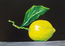 Original Oil Painting on Board by Terry P Wylde  Here's the lemon wheres the Gin