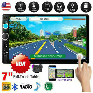 "7"" Inch Car Stereo Radio HD MP5 Player 2DIN Touch Screen Bluetooth USB TF AUX IN"